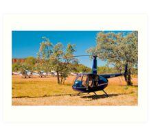 Tourist aircraft, Purnululu Airstrip, Western Australia. Art Print