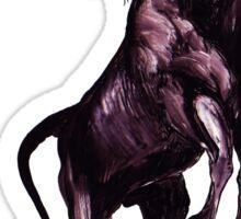 GALLIMAUFRY ~ Black Unicorn Rearing by tasmanianartist Sticker
