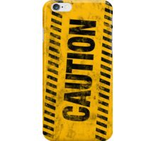 Grungy Caution iPhone Case/Skin