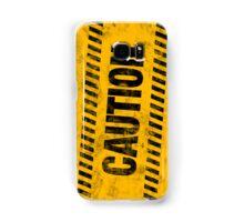 Grungy Caution Samsung Galaxy Case/Skin