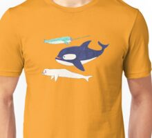 orca, narwhal and beluga Unisex T-Shirt