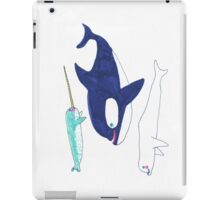 orca, narwhal and beluga iPad Case/Skin