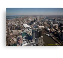 Scenic View from Melbourne's Southbank, Victoria Australia Canvas Print