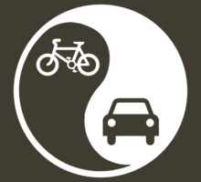 Yin and Yang / Bicycle and Car (dark) by KraPOW