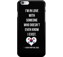 The Kpop Fan problem iPhone Case/Skin