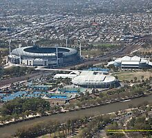 MCG, Rod Laver Arena and Hisense Arena, Melbourne Australia by SNPenfold