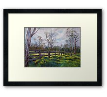 'Barmah Muster Yards' Framed Print