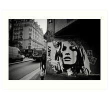 Parisienne Grunge Art Print