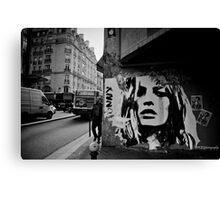 Parisienne Grunge Canvas Print