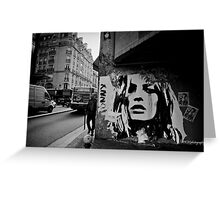 Parisienne Grunge Greeting Card