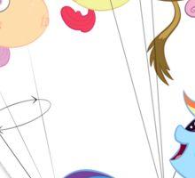 Balloon dash Sticker