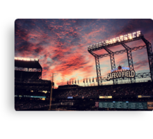 Sunset at Safeco Canvas Print
