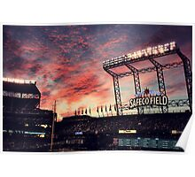 Sunset at Safeco Poster