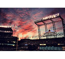 Sunset at Safeco Photographic Print