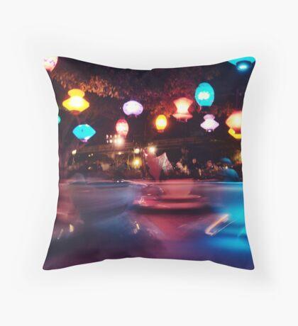 Night Teacupping Throw Pillow