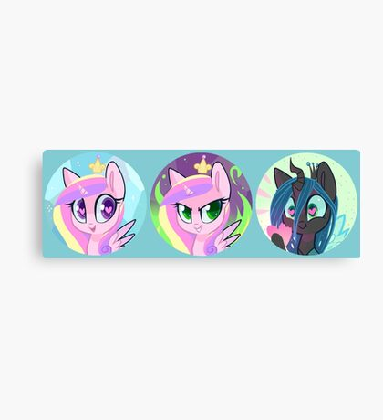 Royal Love Ponies Canvas Print