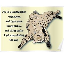 Cat Napping (I'm in a relationship with sleep) Poster