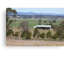 Rural View -Wallalong towards Morpeth, NSW Australia Canvas Print