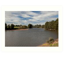 Rural View -Hunter River at Morpeth, NSW Australia Art Print