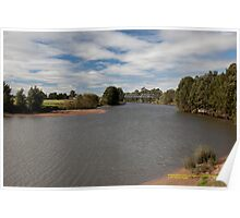 Rural View -Hunter River at Morpeth, NSW Australia Poster