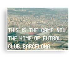 Futbol Club Barcelona Canvas Print
