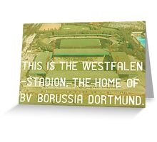 Borussia Dortmund Greeting Card