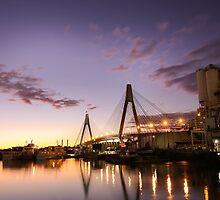 Anzac Bridge - Sydney by Lorraine Creagh
