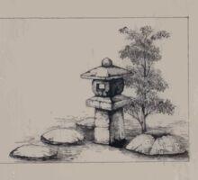 Ornamental lantern post for garden 001 Sticker