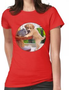 Puppy & Bunny Womens Fitted T-Shirt