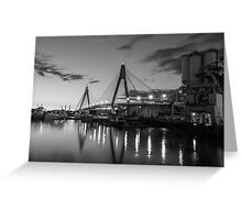 Anzac Bridge - B & W Greeting Card