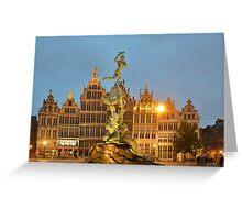 Grote Markt Antwerp Greeting Card