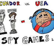 Obama Assange et Snowden caricature by Binary-Options