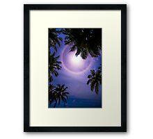 Sun Halo. Maldives Framed Print