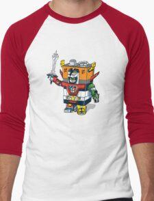 9 volt tron Men's Baseball ¾ T-Shirt