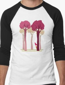 colorful forest with cute dwarf Men's Baseball ¾ T-Shirt