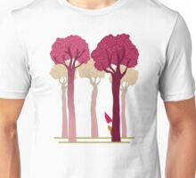 colorful forest with cute dwarf Unisex T-Shirt