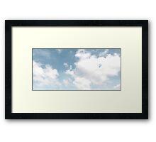 Sky Blue Sky Framed Print