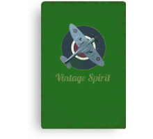 RAF Fighter Vintage Spirit Spitfire Logo Graphic Canvas Print
