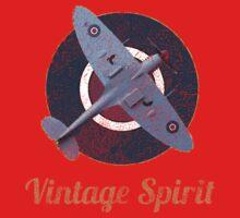 RAF Fighter Vintage Spirit Spitfire Logo Graphic Kids Clothes
