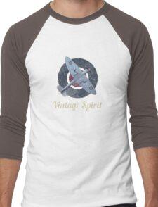 RAF Fighter Vintage Spirit Spitfire Logo Graphic Men's Baseball ¾ T-Shirt