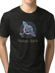 RAF Fighter Vintage Spirit Spitfire Logo Graphic Tri-blend T-Shirt
