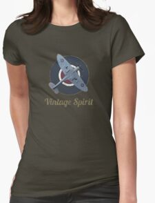 RAF Fighter Vintage Spirit Spitfire Logo Graphic Womens Fitted T-Shirt