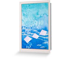 Antigua Blues 3 Greeting Card