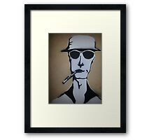 Fear and Loathing Stencil Framed Print