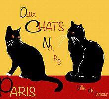 Deux Chats Noirs by artonthehoof