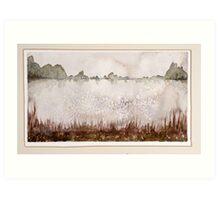 Lake 6, frozen Art Print