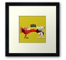charlie brown and snoopy the peanuts movie Framed Print