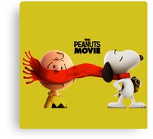 charlie brown and snoopy the peanuts movie Canvas Print