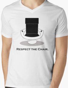 Respect The Chair Mens V-Neck T-Shirt