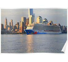 Cruise Ship Norwegian Breakaway On The Hudson Rv. Poster